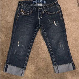 Hydraulic Jean capri pants
